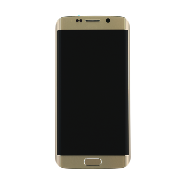Galaxy S6 Edge- LCD-Glass replacement G925A Frame – Gold – Mobile Rescue