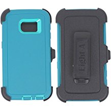 Galaxy S6 Edge Defender Case – Teal & Teal