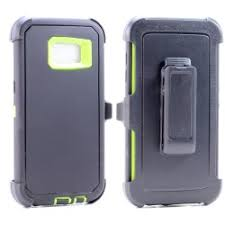 Galaxy S7 Edge Defender Case – Blue & Lime Green