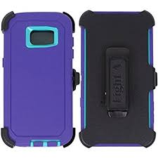 Galaxy S7 Edge Defender Case – Purple & Teal