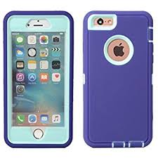 iPhone 6 : 6S 4.7 Defender Case – Purple & Teal