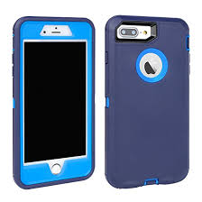 iPhone 7 Plus 5.5″ Defender Case – Blue & Blue2