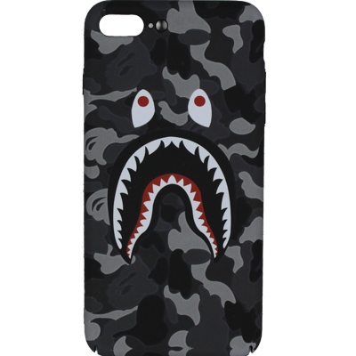 low priced bdf45 fdc33 Bape Shark Head Case - Gray